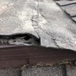 Roof with hole in it. New Roof Plus fixed this problem.