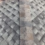 Roof with hail damage